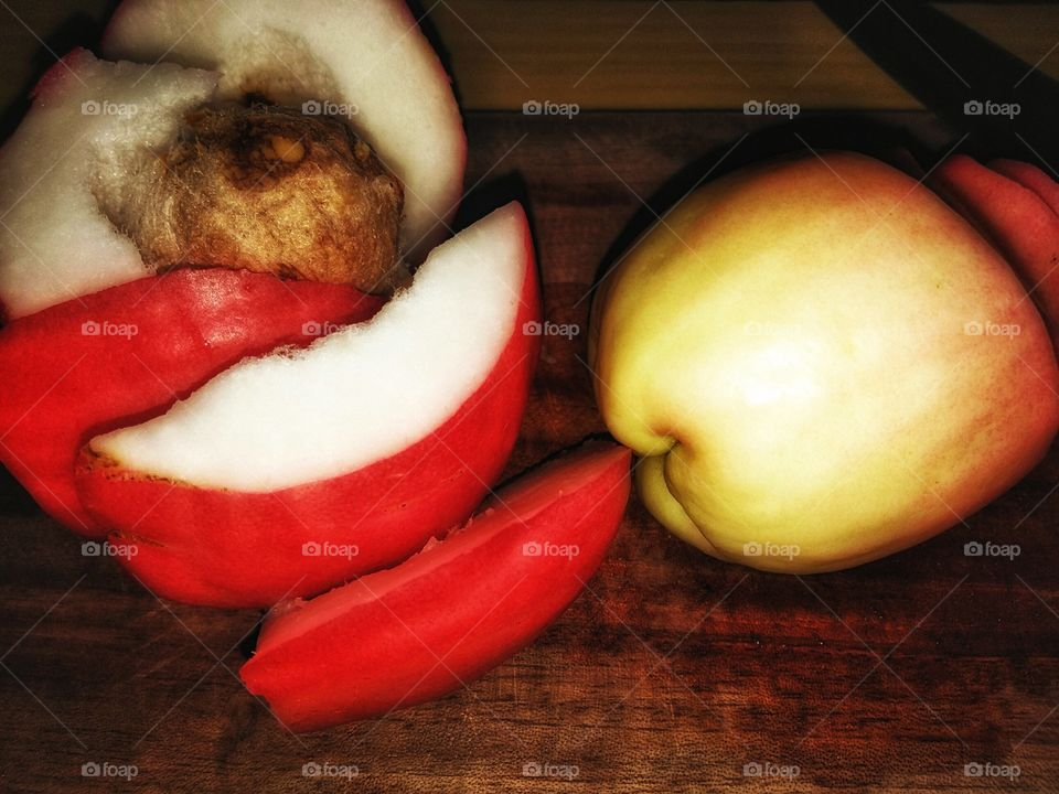 art from pieces of water cashew fruit