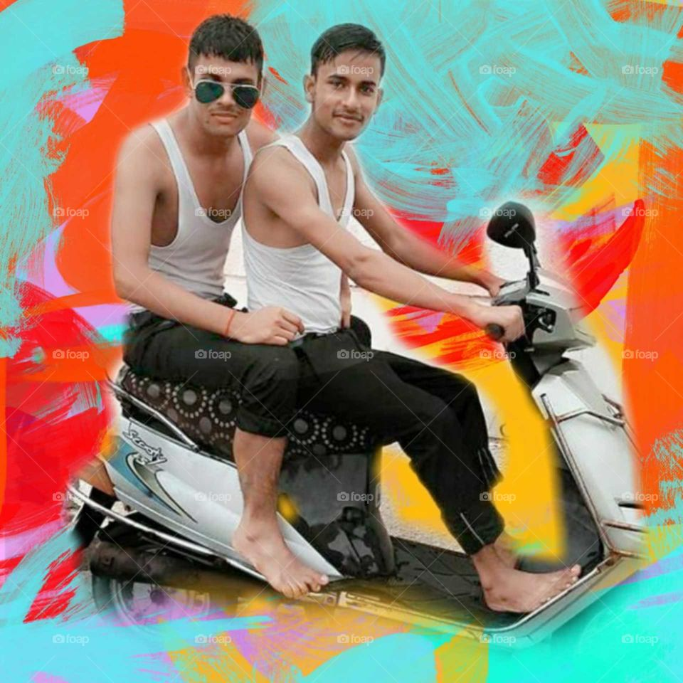 cute handsome brothers together, Holi