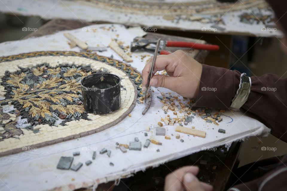 handcrafted mosaic madaba jordan