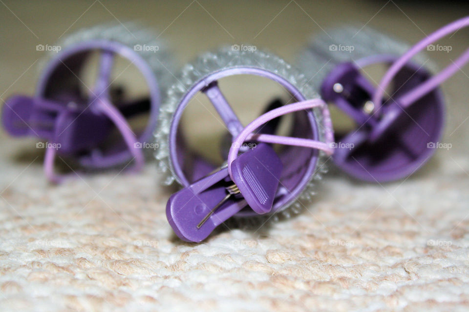 Close-up of hair clips