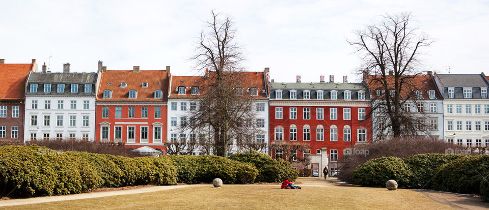 Panoramic view of building