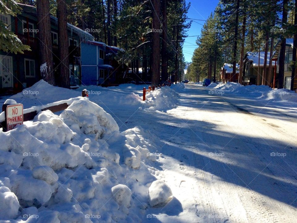 Plowed street