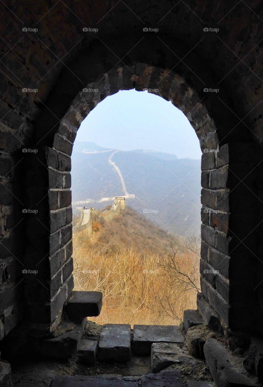 Interior of great wall of china