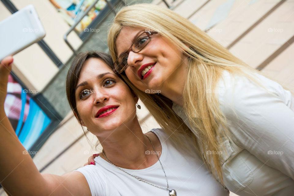 selfie of two friends