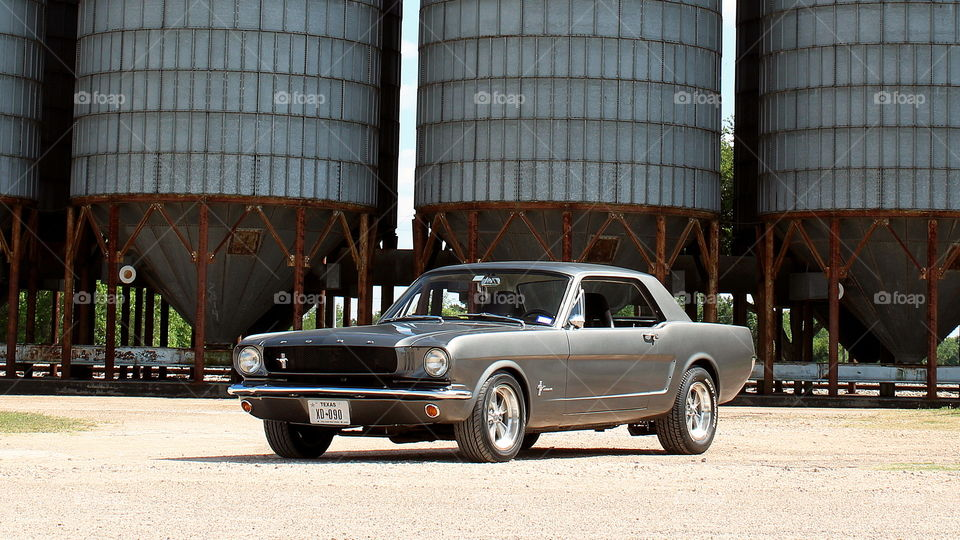 1965 ford Mustang grain silos america