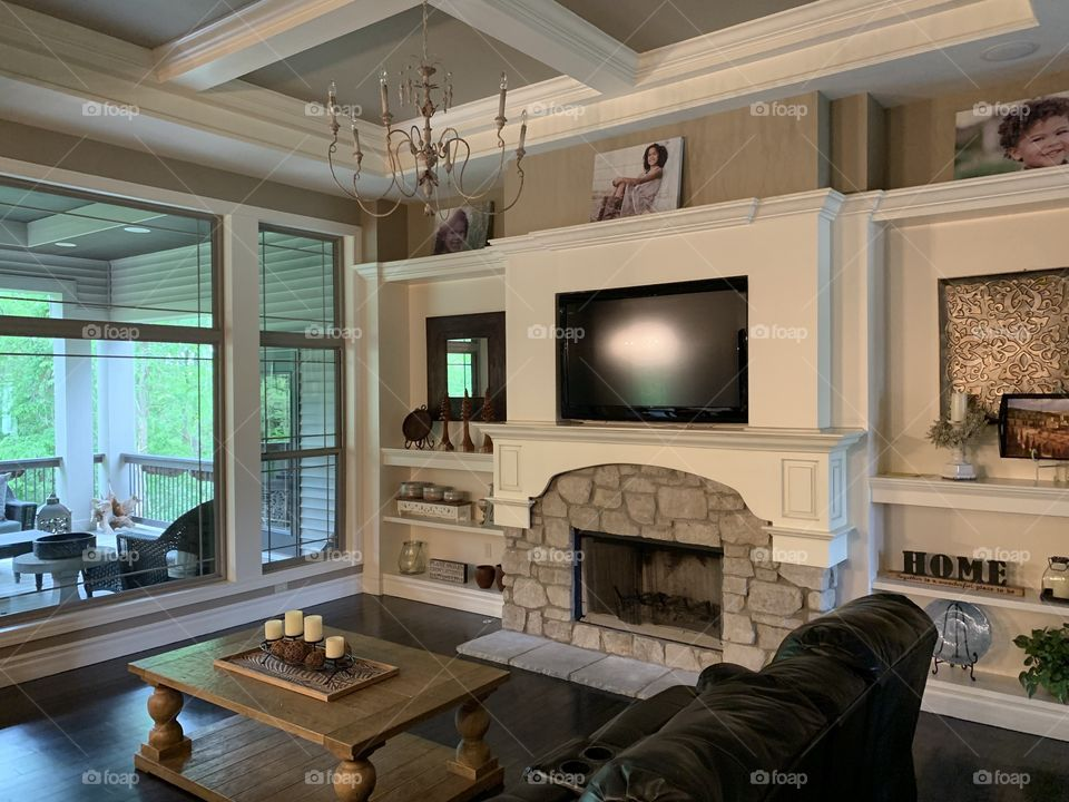 Perfect place to relax...enjoy TV, cozy up to a fire, or enjoy the views outside!