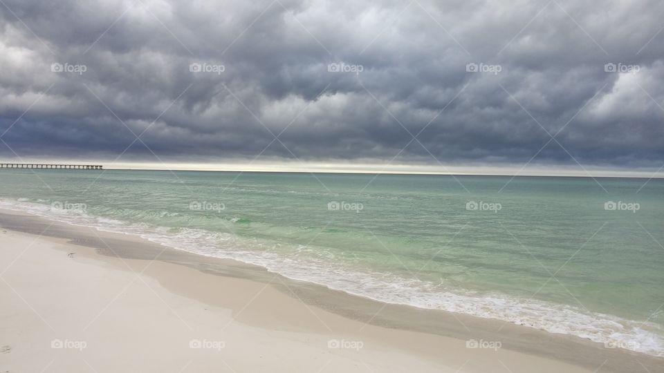 Winter Beach. Panama Beach, Florida