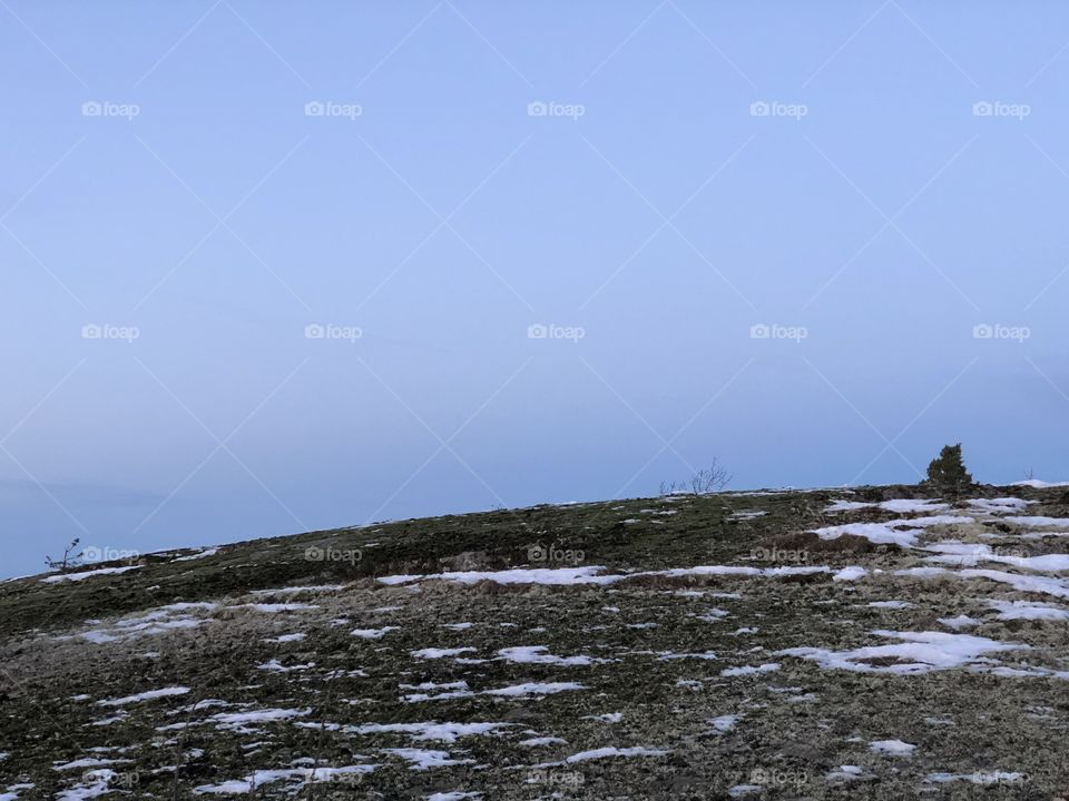 Mountain top in southern sweden