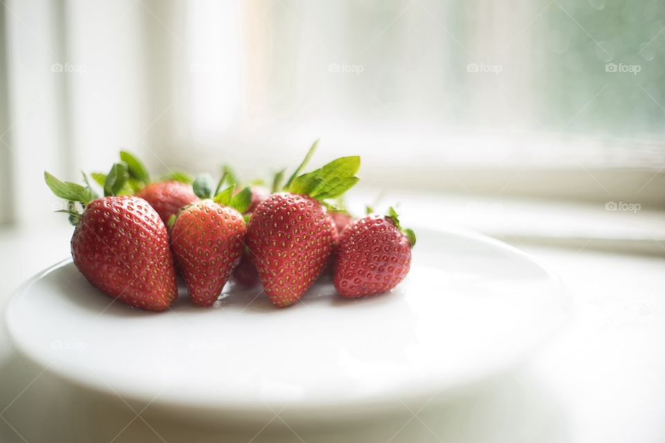 Delicious strawberry on plate