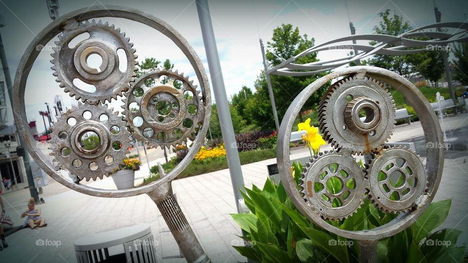 Two Gears. Smale Park, Cincinnati, Ohio.