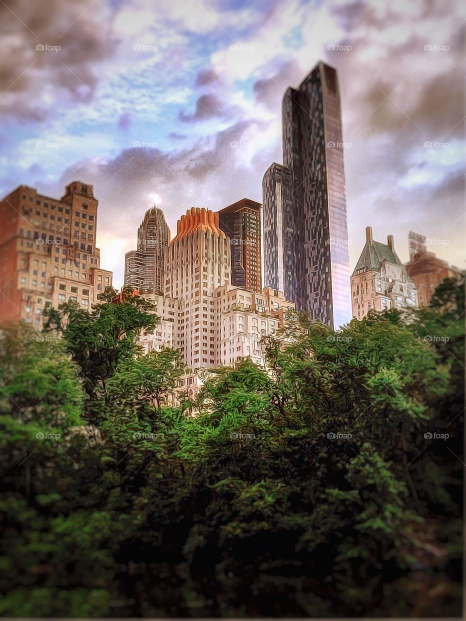 Skyscapers-Upper West Side, Manhattan, New York City.