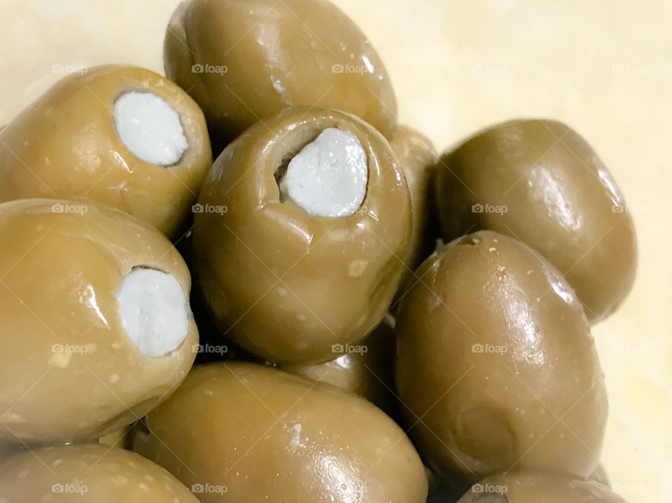 Cheese stuffed olives