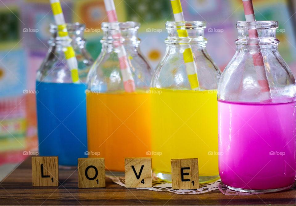 love alphabet fresh fruit juice