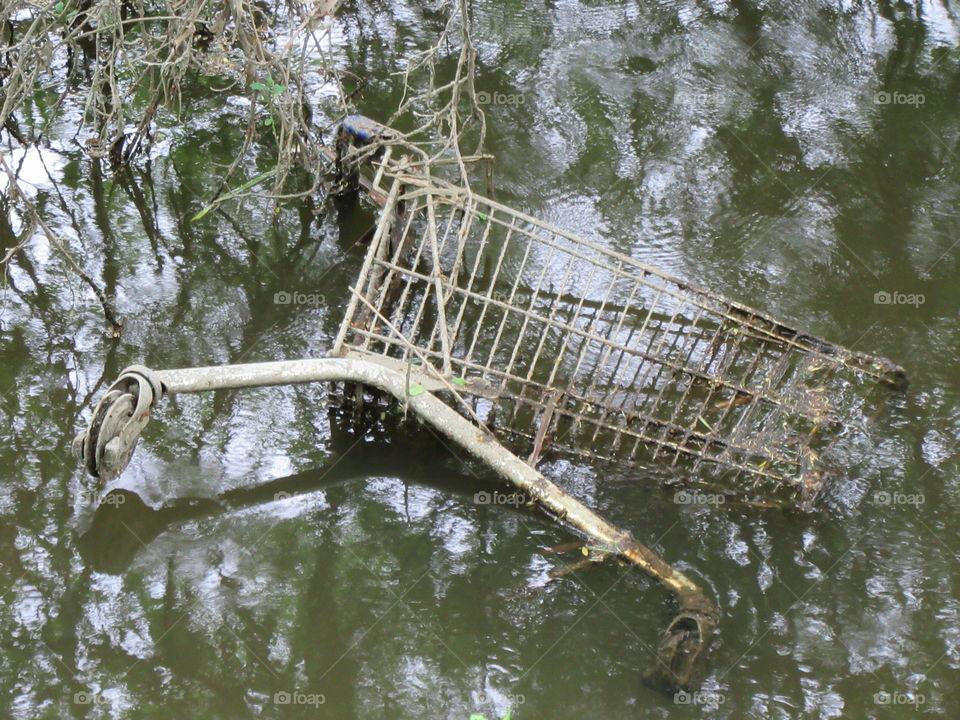 Swimming cart. Aarhus, Denmark