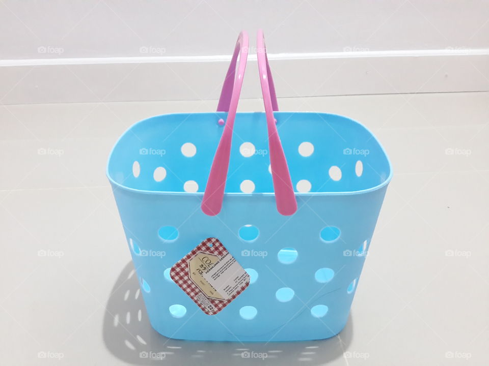 Sky Blue Mini Shopping Basket. cute little shopping basket