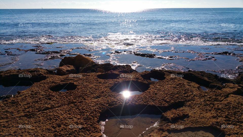 Sea in sunny day