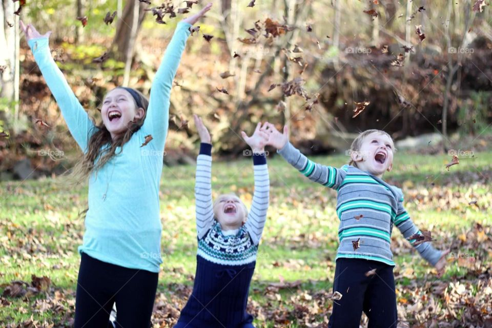 Happiness in the fallen leaves.
