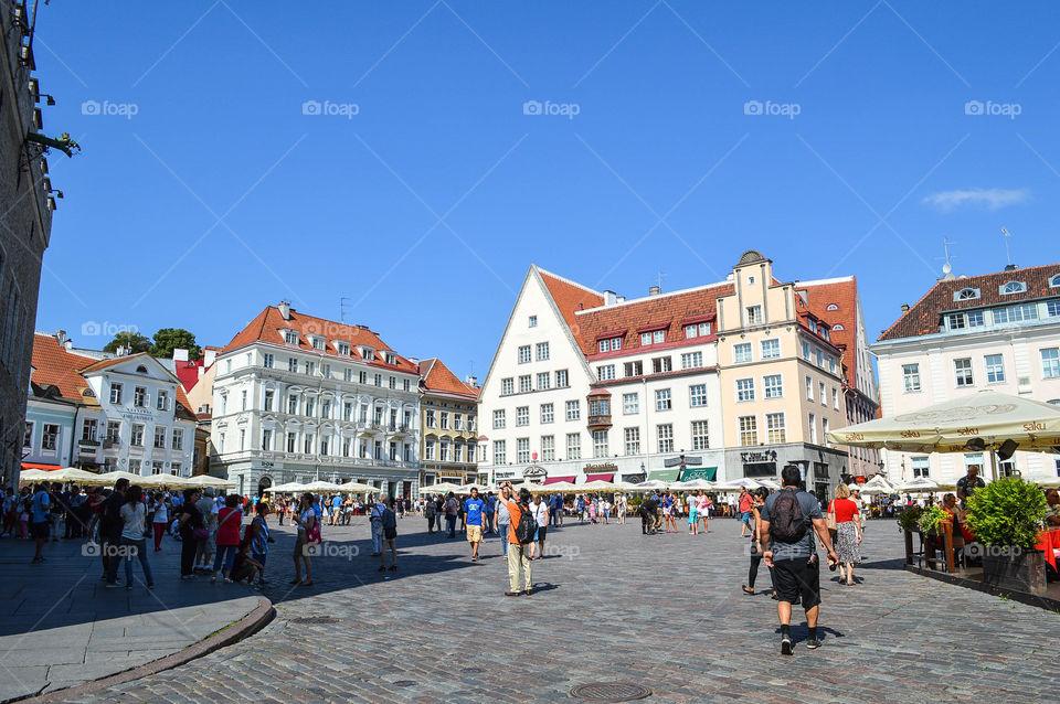Raekoja Flats Tallinn, Estonia. View of Tallinn's town square