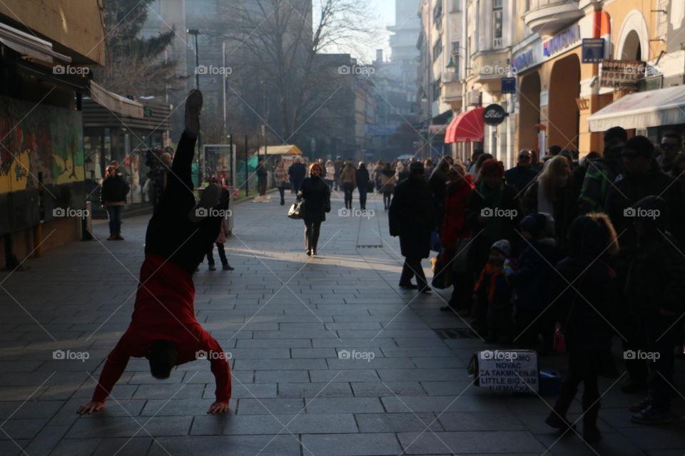People, Street, City, Group, Many