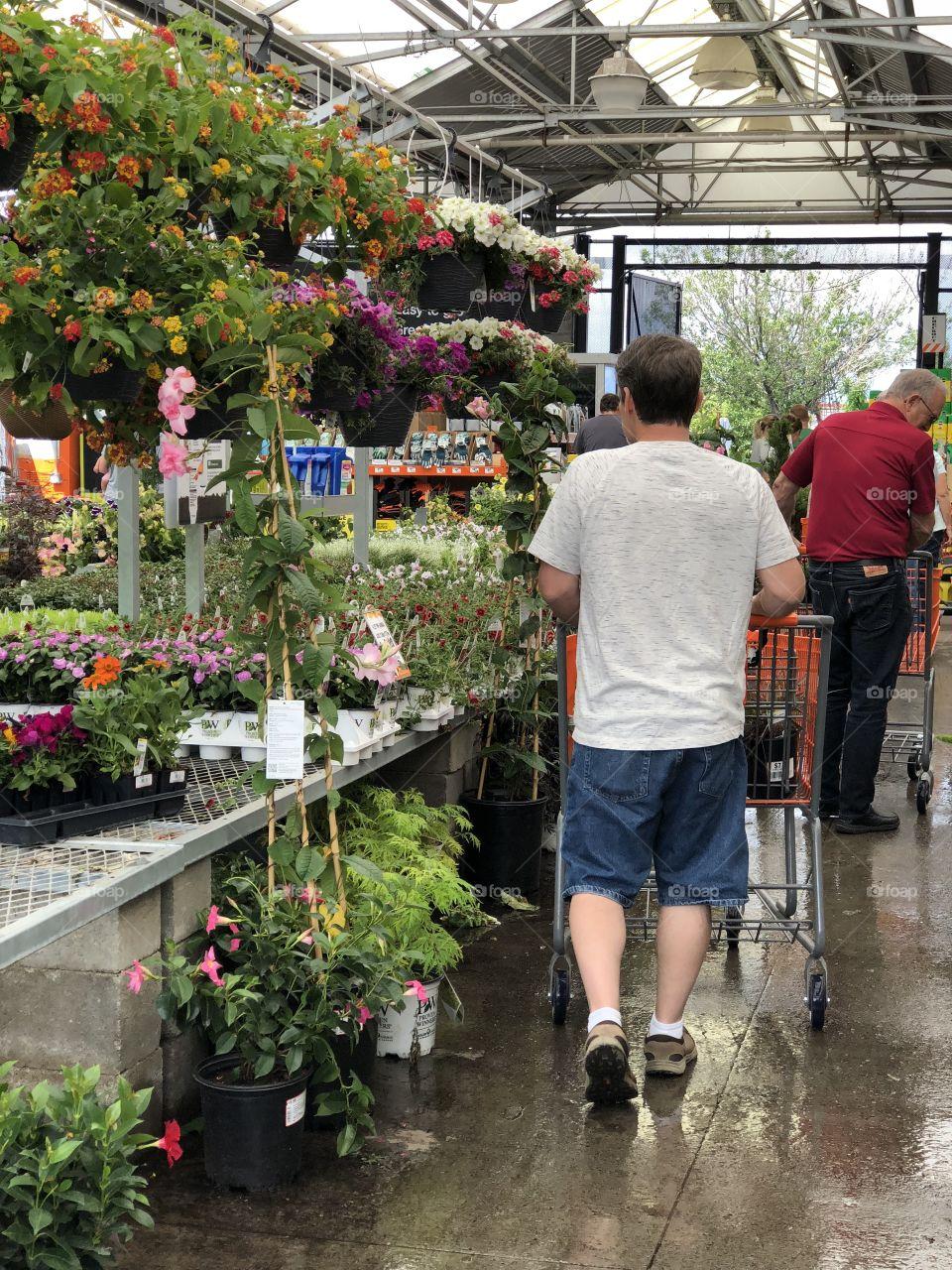 Shopping for flowers