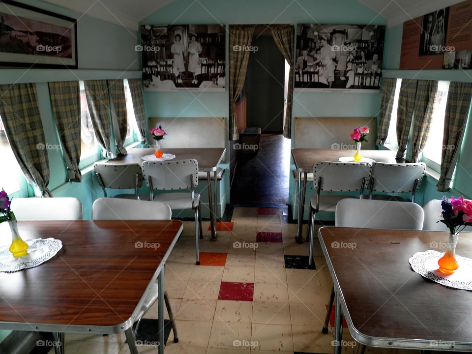old train carriage done in a sixties look