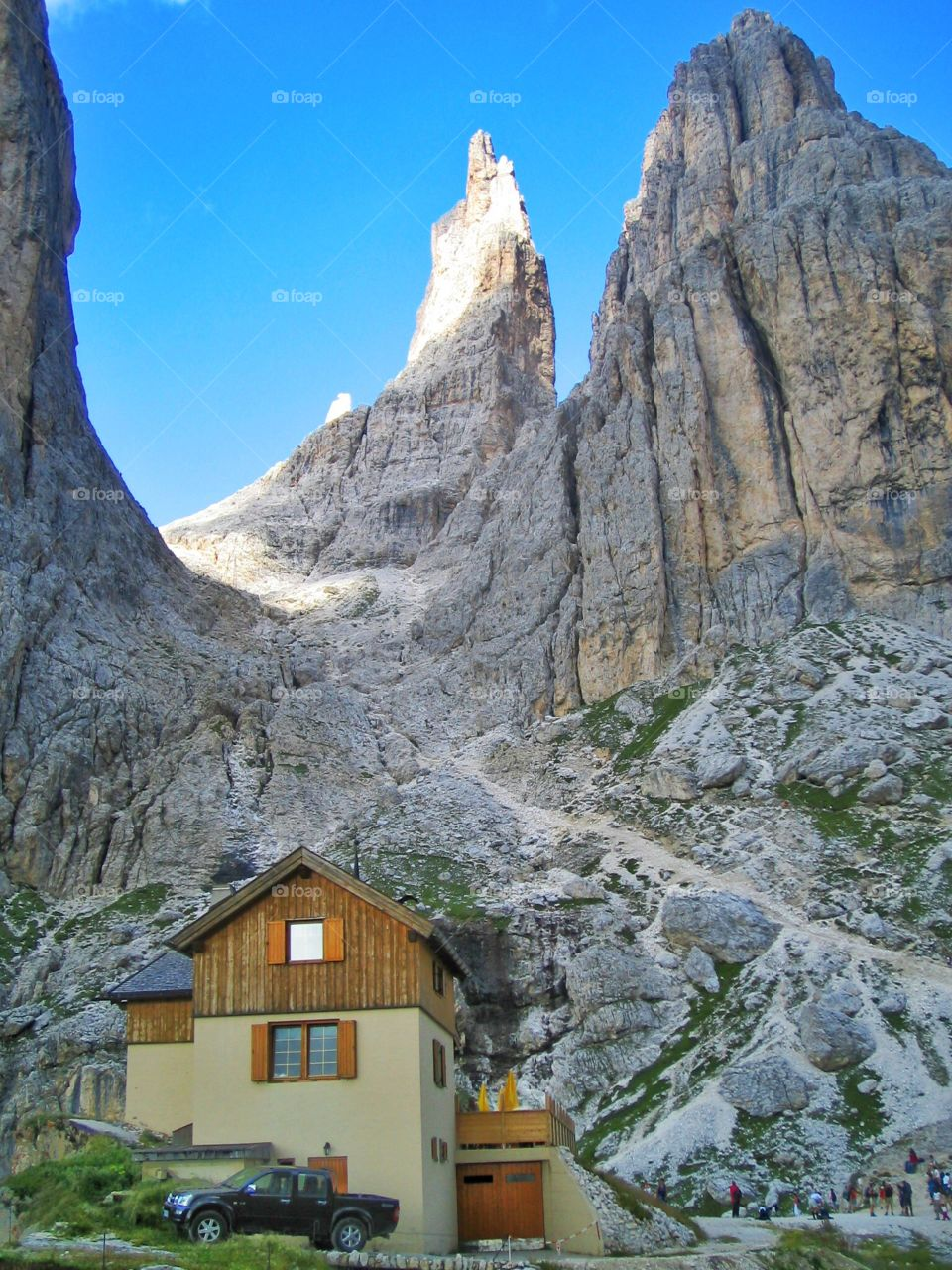 Shelter in the mountain. A scared Shelter is in high mountain in the Dolomites surfing my vacation up there