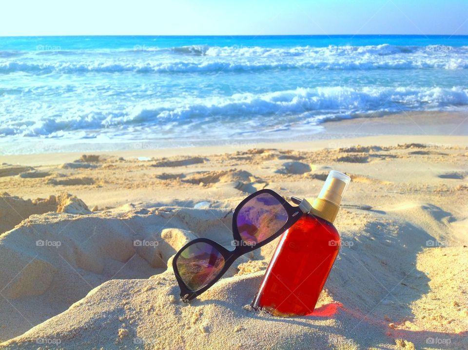 Beach and sun tan time