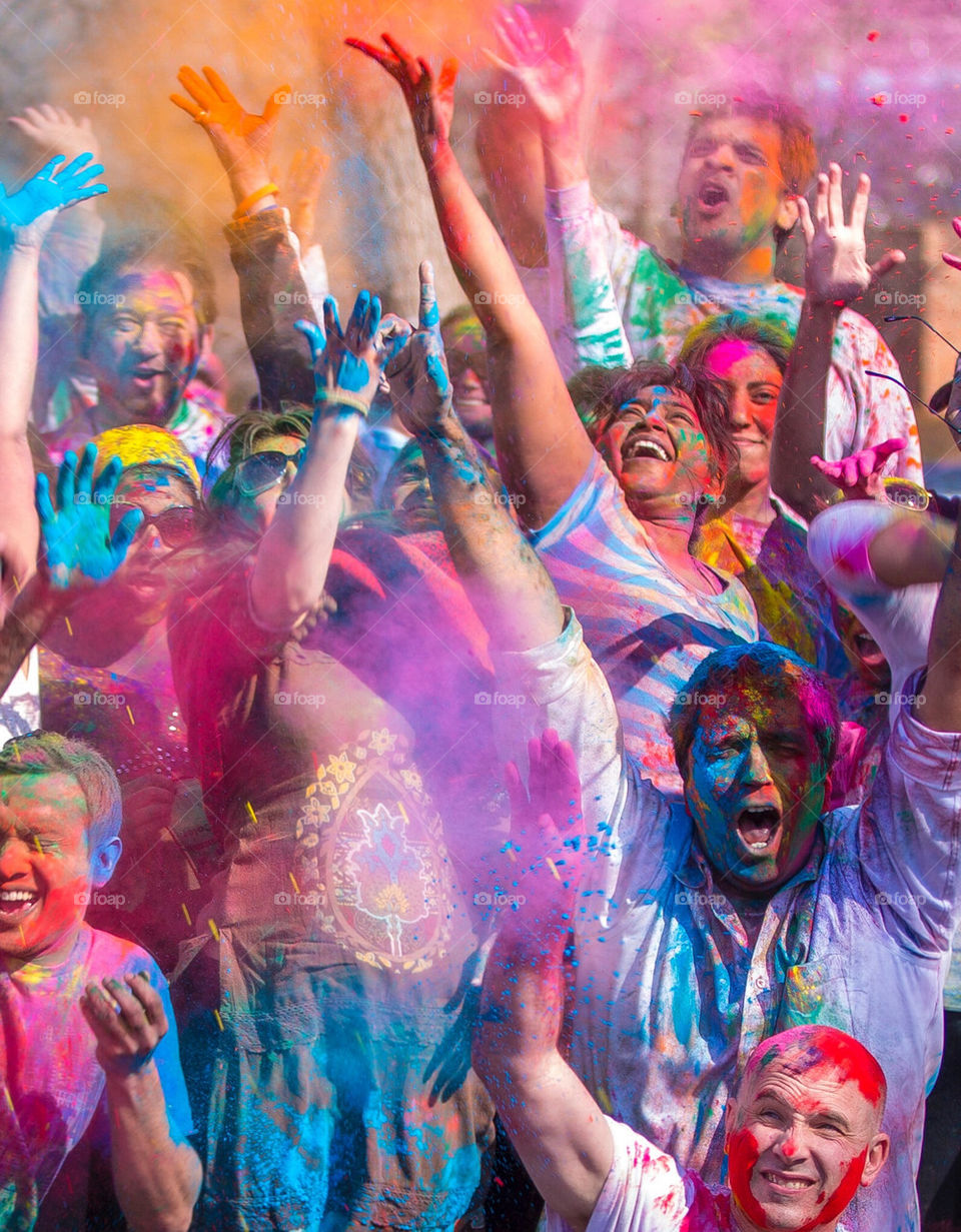 Colorful Holi in DC