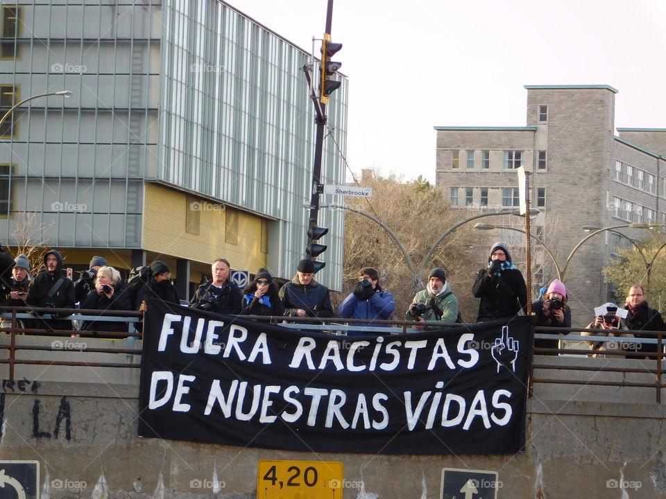 Anti-racist protest
