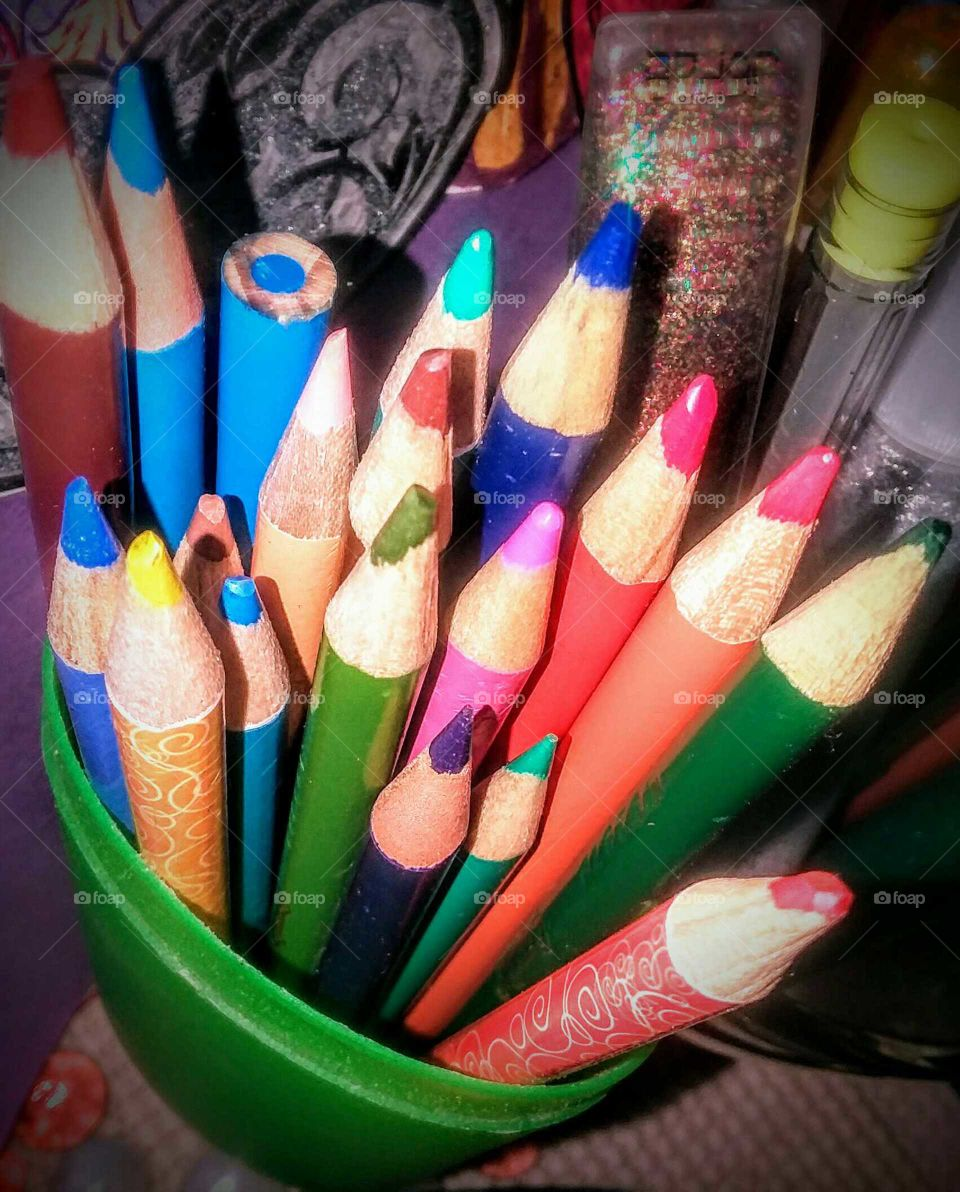 Standing Colored Pencils