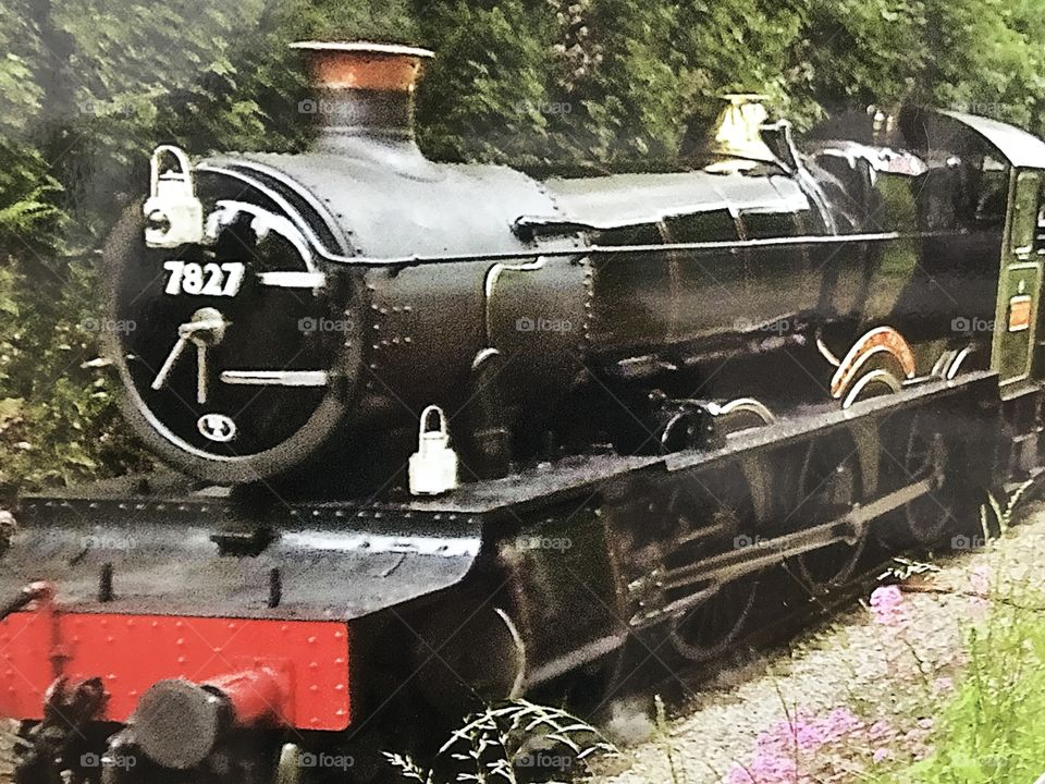 One of the lovely steam engines, regularly used in Devon, UK.