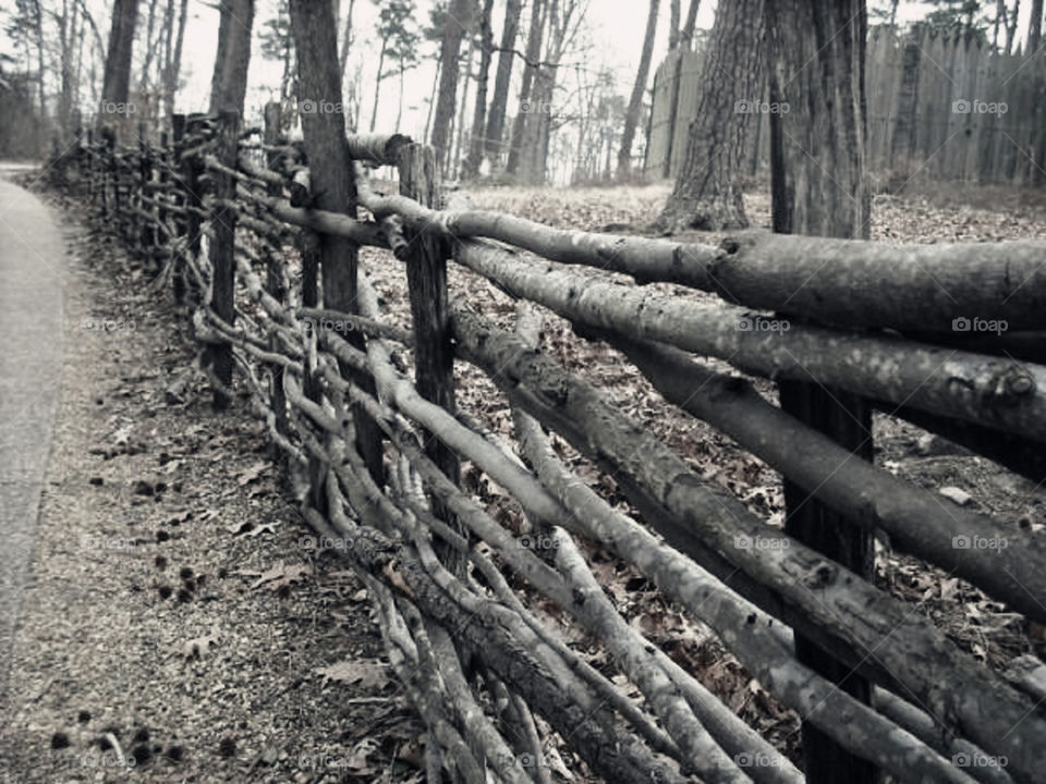The past. Visiting a medieval reenactment and I came across this fence