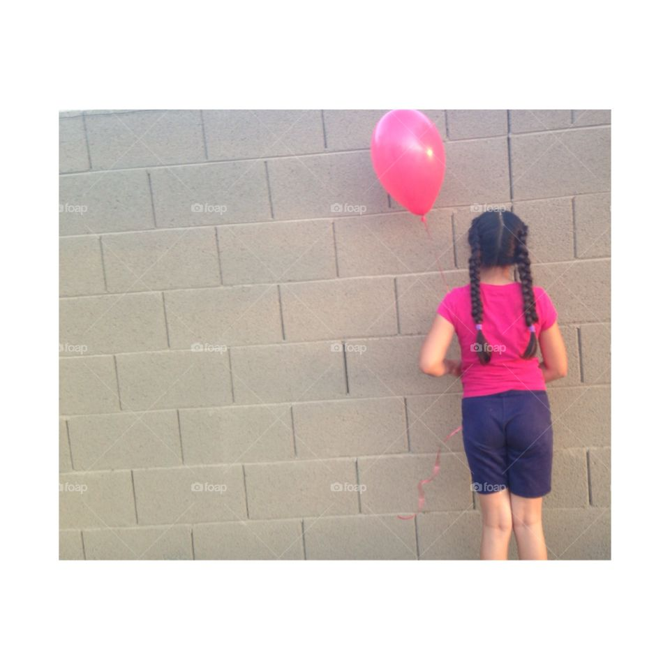 Balloon girl pt 2. Again this is my sister holding a balloon