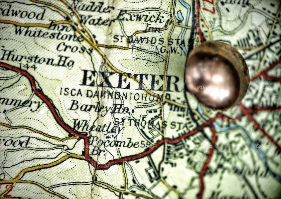 Exeter Tack on map . Exeter Tack on map
