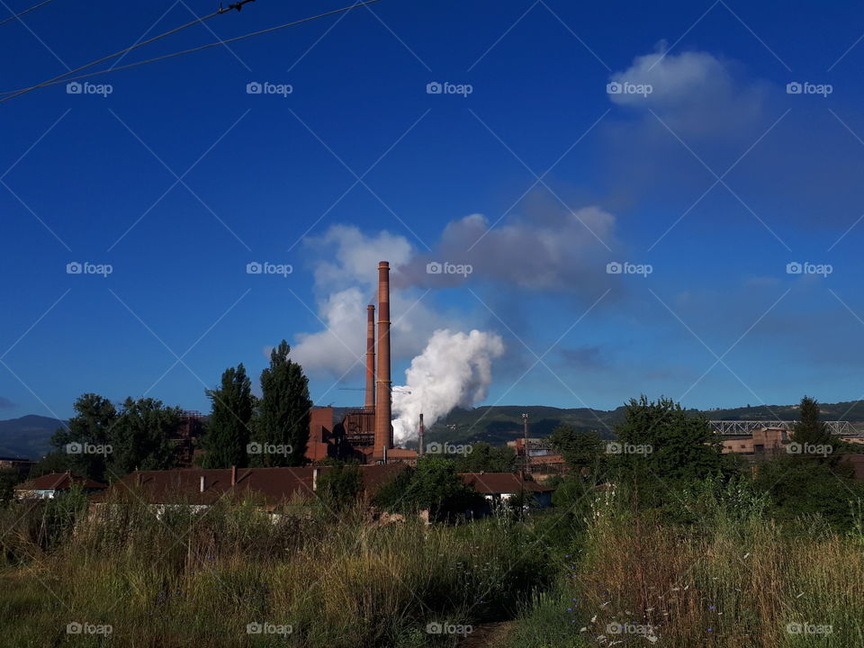 smoke from the iron chimney in Zenica