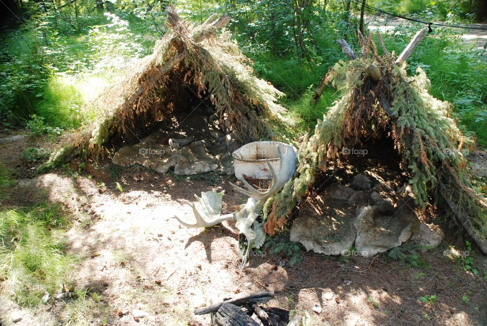 Athabaskan hunters camp