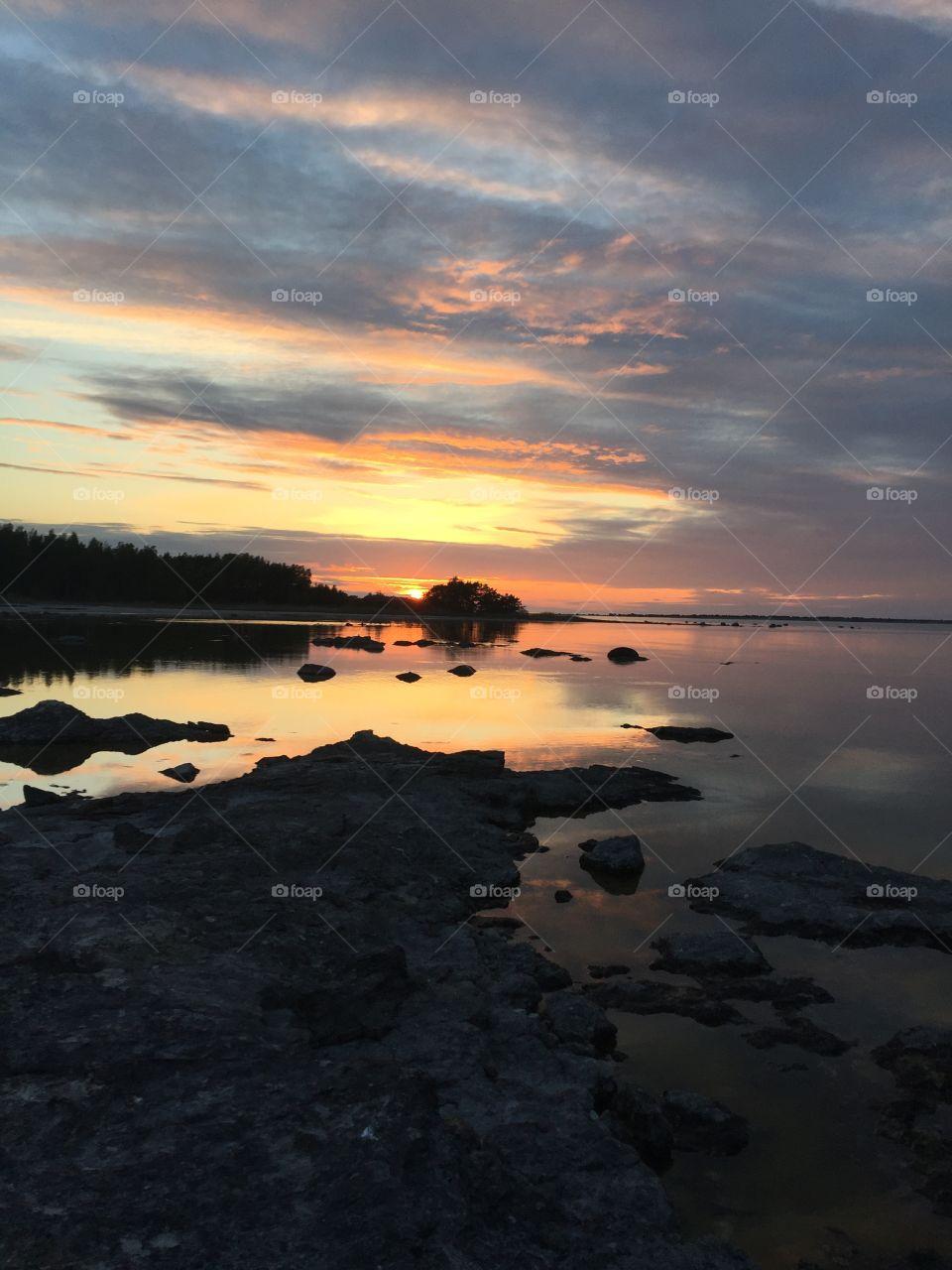 Sunset at Ekeviken, Fårö☀️