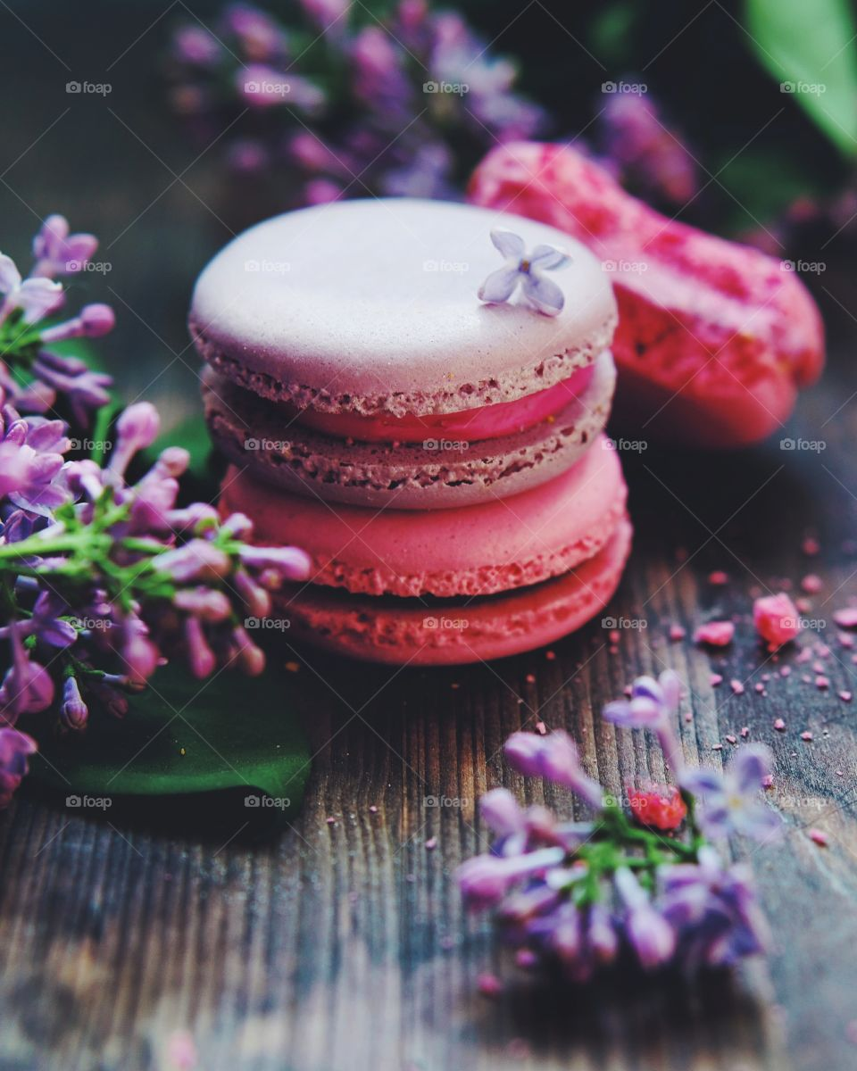 Close-up of a macaroons