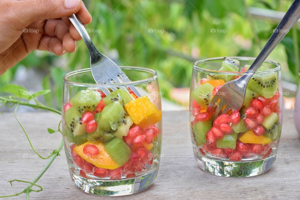fruits in a glass