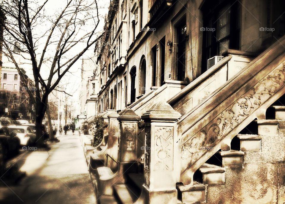 Brownstones in the Upper West Side