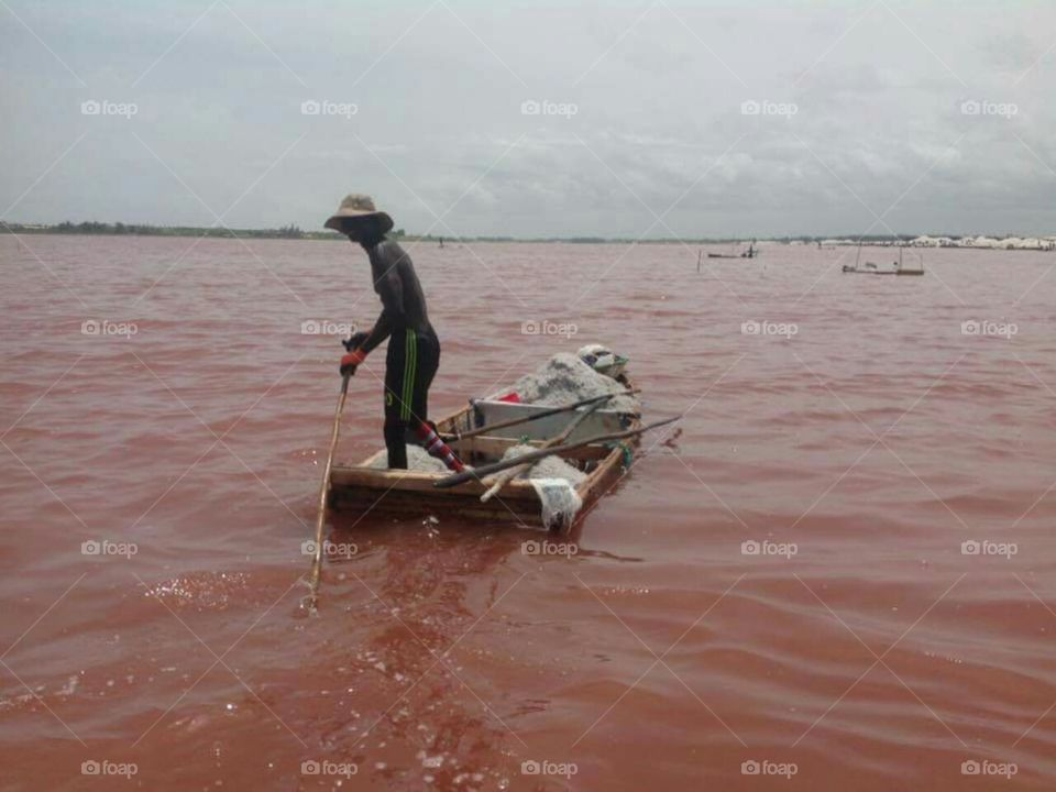 lac rose, senegal.