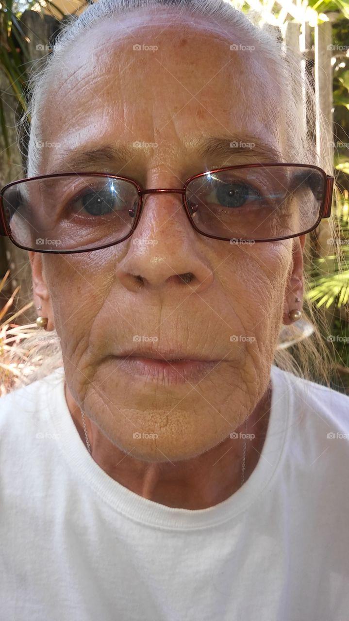 grandmother in glasses
