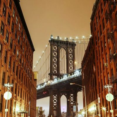 Dumbo, Brooklyn. first night trip in Brooklyn and practiced my long exposure