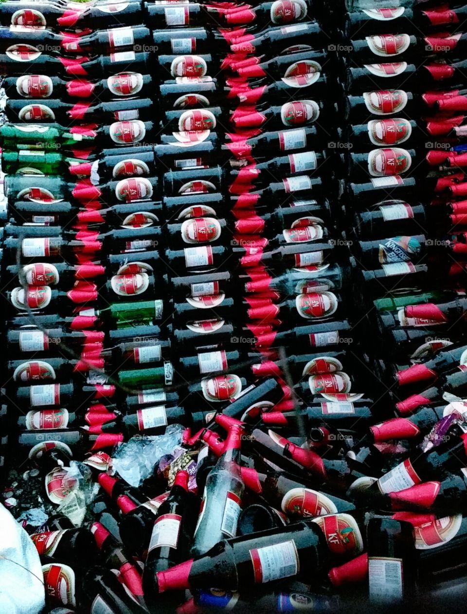 used beer bottles