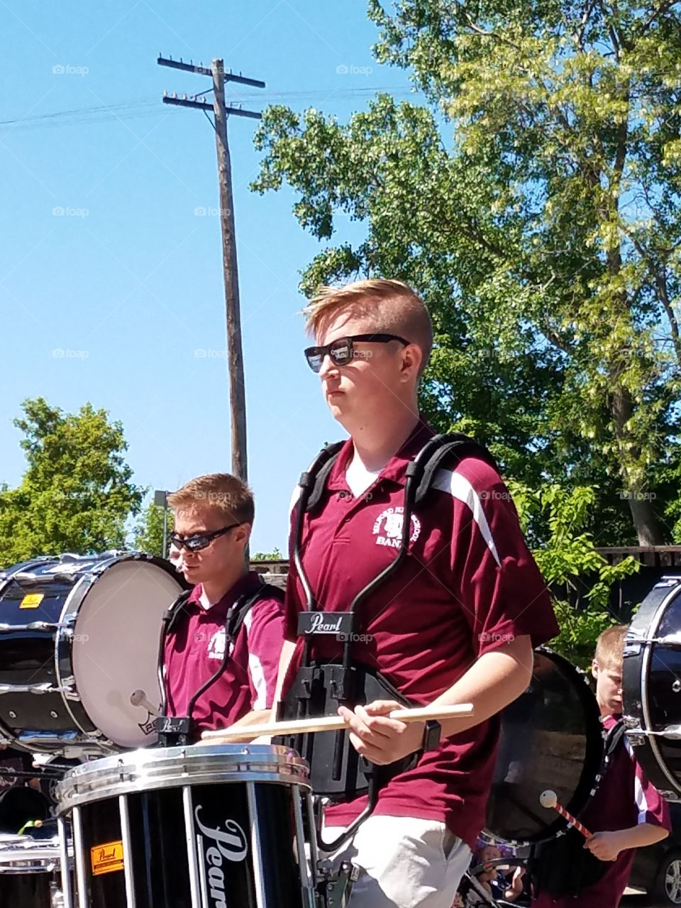 drummer in the marching band