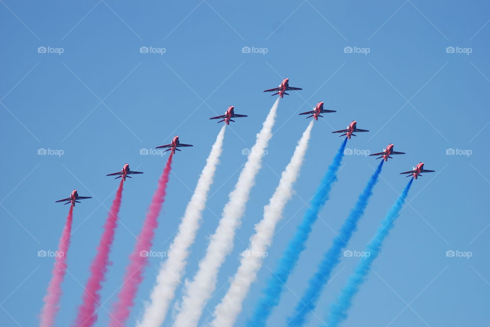 The Red Arrows . The RAF Aerobatic Display Team, The Red Arrows
