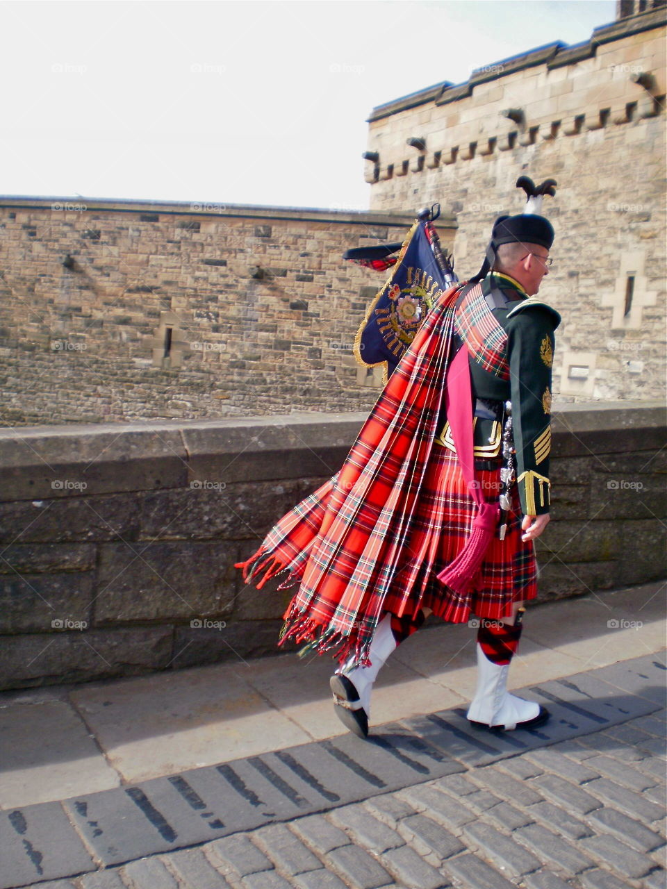 Changing of the Guard. Edinburgh Castle in Scotland during the changing of the guard.