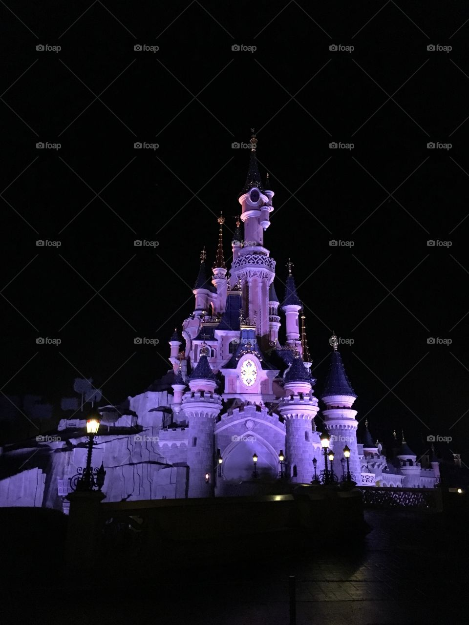 Beautiful castle as Disneyland Paris