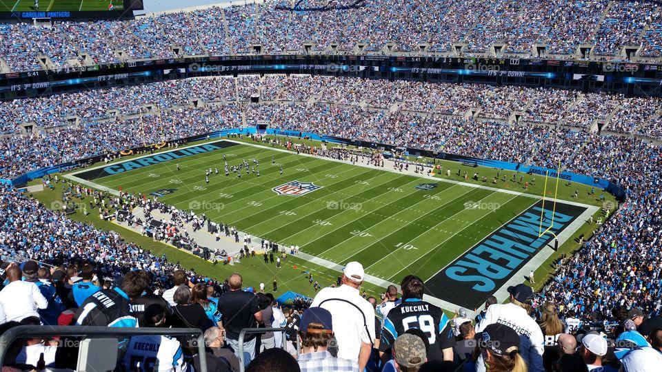 Carolina Panthers Game. Panthers game in Charlotte NC