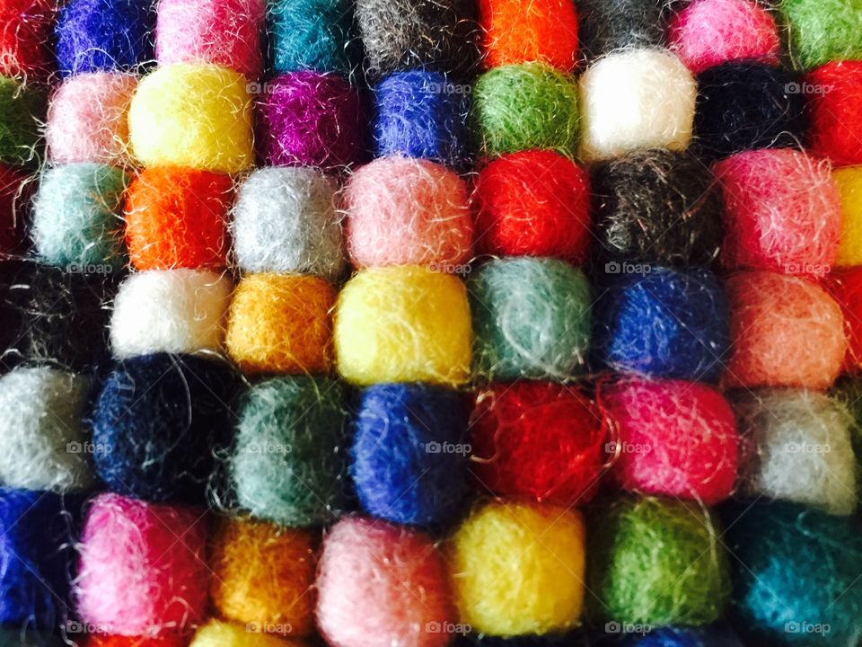 Colortastic Felts . A sharp closeup of multicolored felts